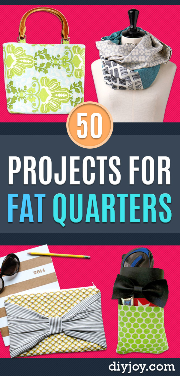Sewing Projects for Fat Quarters - Easy Ideas to Sew With a Fat Quarter - Quick DIY Gifts, Quilt, Placemats, DIY Baby Gift, Project for The Home, Kids, Christmas