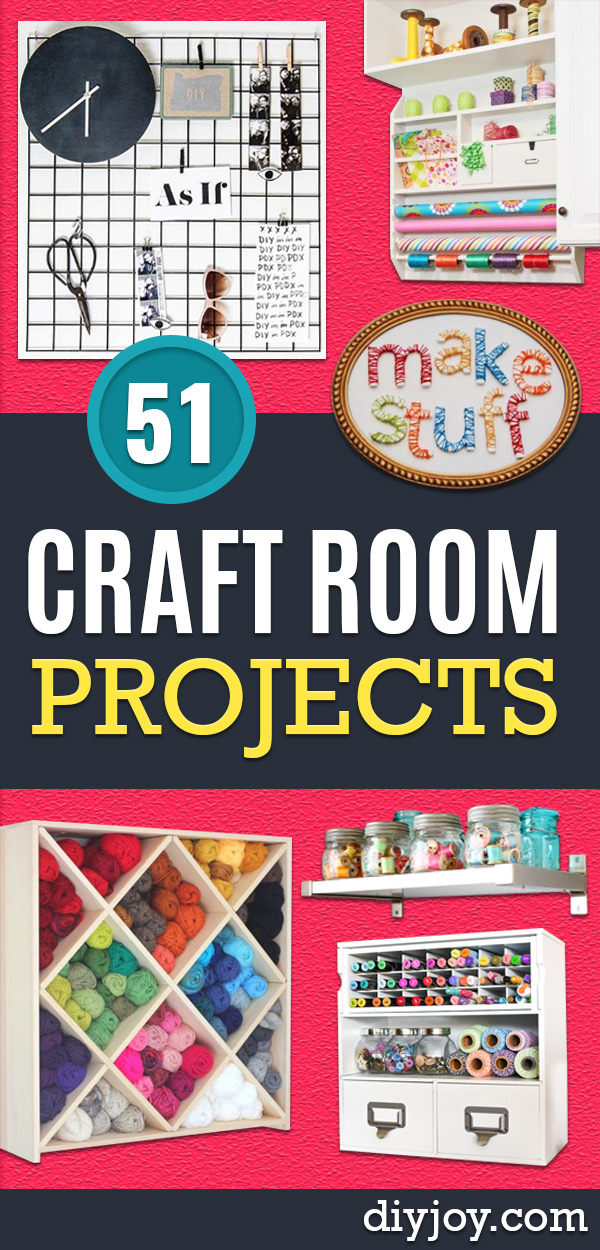 Craft Room Organization Ideas - DIY Dollar Store Projects for Crafts - Budget Ways to Declutter While Organizing Supplies - Shelves, IKEA Hacks, Small Space Ideas