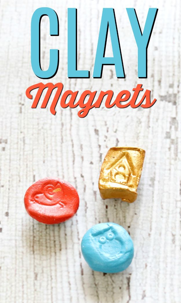 Fun DIY Ideas for Adults - Air Dry Clay Magnets - Easy Crafts and Gift Ideas , Cool Projects That Are Fun to Make - Crafts Idea for Men and Women
