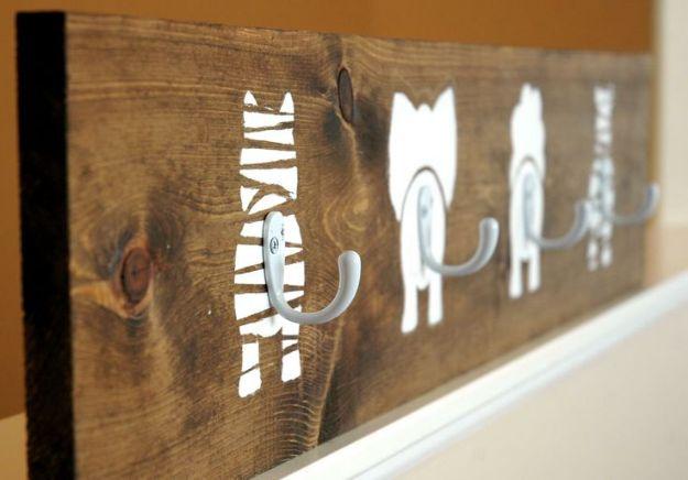 DIY Nursery Decor Ideas for Boys - Animal Bums Coat Hook - Cute Blue Room Decorations for Baby Boy- Crib Bedding, Changing Table, Organization Idea, Furniture and Easy Wall Art