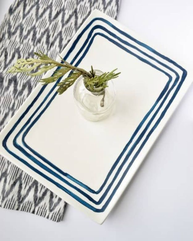 Fun DIY Ideas for Adults - Anthropologie Inspired Painted Plate - Easy Crafts and Gift Ideas , Cool Projects That Are Fun to Make - Crafts Idea for Men and Women