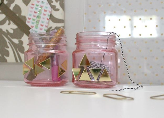 Fun DIY Ideas for Adults - Blinged Craft Jars - Easy Crafts and Gift Ideas , Cool Projects That Are Fun to Make - Crafts Idea for Men and Women
