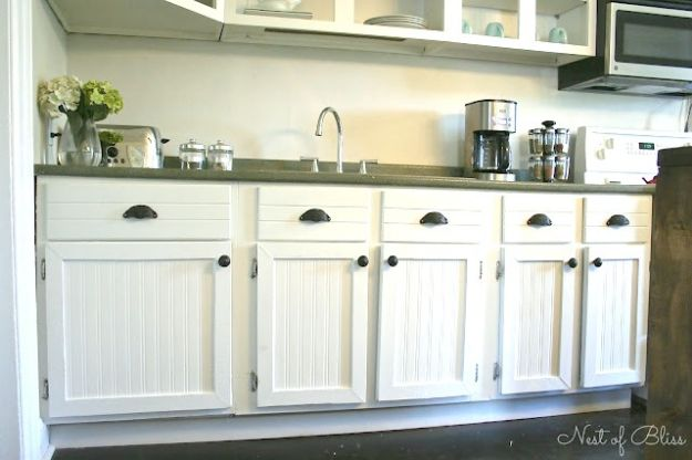 DIY Kitchen Cabinets - Budget Cabinet Makeover - Makeover Ideas for Kitchen Cabinet - Build and Design Kitchen Cabinet Projects on A Budget - Cheap Reface Idea and Tutorial