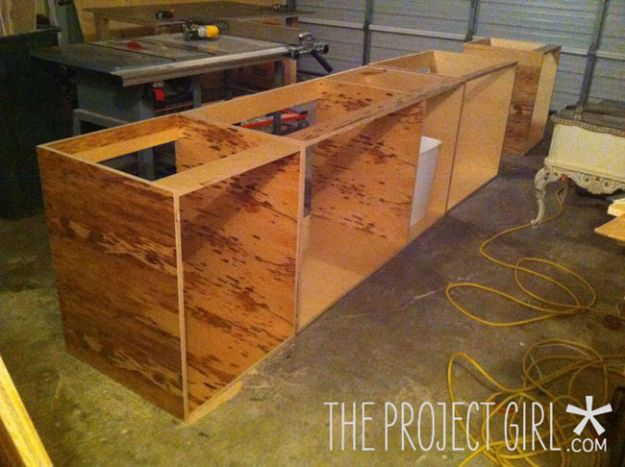 DIY Kitchen Cabinets - Build Custom Kitchen Cabinets - Makeover Ideas for Kitchen Cabinet - Build and Design Kitchen Cabinet Projects on A Budget - Cheap Reface Idea and Tutorial