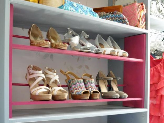DIY Shoe Racks - Build a Shoe Rack for Your Closet - Easy DYI Shoe Rack Tutorial - Cheap Closet Organization Ideas for Shoes - Wood Racks, Cubbies and Shelves to Make for Shoes