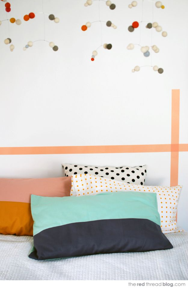 Sewing Projects to Make and Sell - Color Block Pillowcase - Easy Things to Sew and Sell on Etsy and Online Shops - DIY Sewing Crafts With Free Pattern and Tutorial