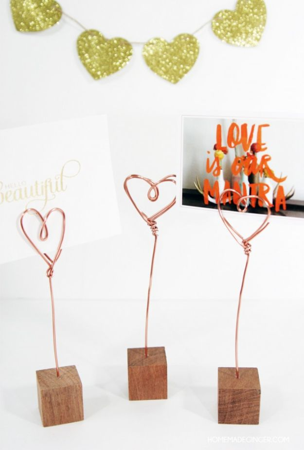 Fun DIYs and Craft Ideas for Adults - Copper Wire Photo Holders - Cool Room Decor Ideas -Easy Crafts and Gift Ideas , Cool Projects That Are Fun to Make - Crafts Idea for Men and Women