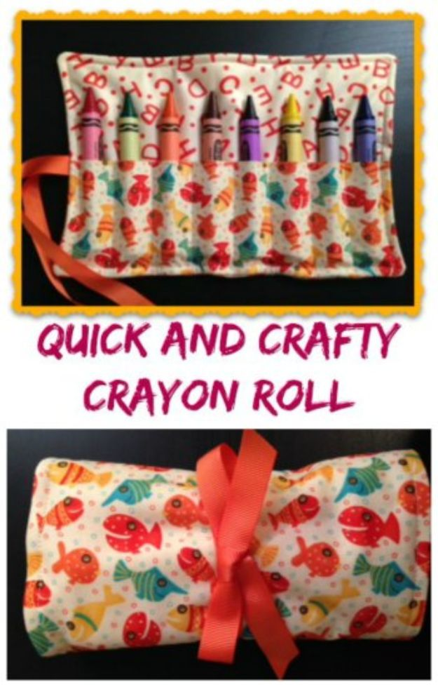 Sewing Projects to Make and Sell - Crafty Crayon Roll Up - Easy Things to Sew and Sell on Etsy and Online Shops - DIY Sewing Crafts With Free Pattern and Tutorial