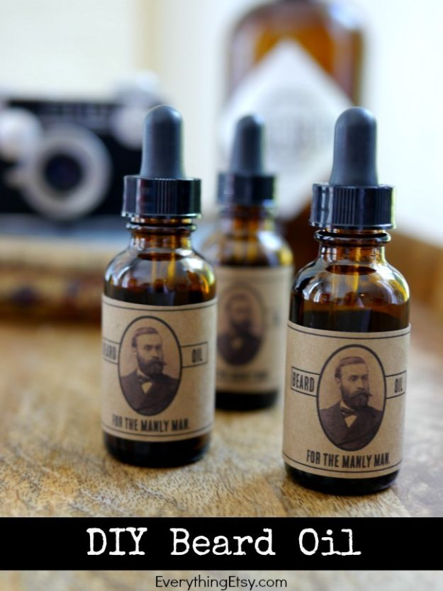 DIY Gifts for Him - DIY Beard Oil - Homemade Gift Ideas for Guys - DYI Christmas Gift for Dad, Boyfriend, Husband Brother - Easy and Cheap Handmade Presents Birthday https://diyjoy.com/diy-gifts-for-him