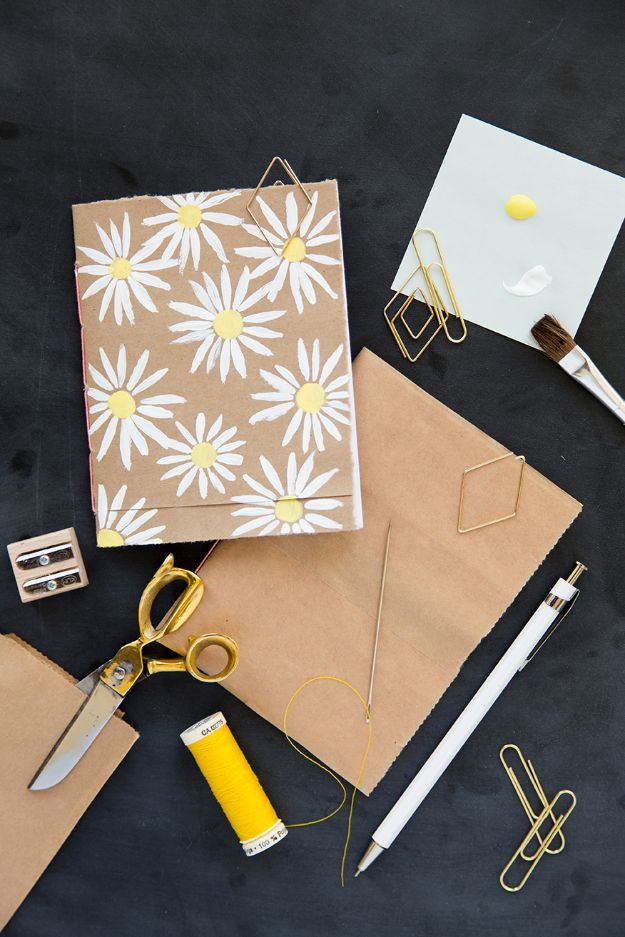 Fun DIY Ideas for Adults - DIY Brown Bag Bookbinding - Easy Crafts and Gift Ideas , Cool Projects That Are Fun to Make - Crafts Idea for Men and Women