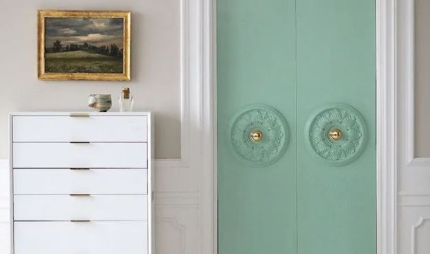 DIY Bedroom Decor Ideas - DIY Closet Door Updatef - Easy Room Decor Projects for The Home - Cheap Farmhouse Crafts, Wall Art Idea, Bed and Bedding, Furniture