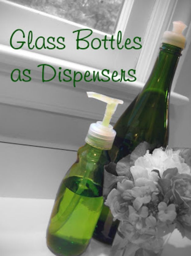 DIY Soap Dispensers - DIY Dispensers from Glass Bottles - Easy Soap Dispenser Ideas to Make for Kitchen, Bathroom - Mason Jar Idea, Cute Crafts to Make and Sell, Kids Bath Decor