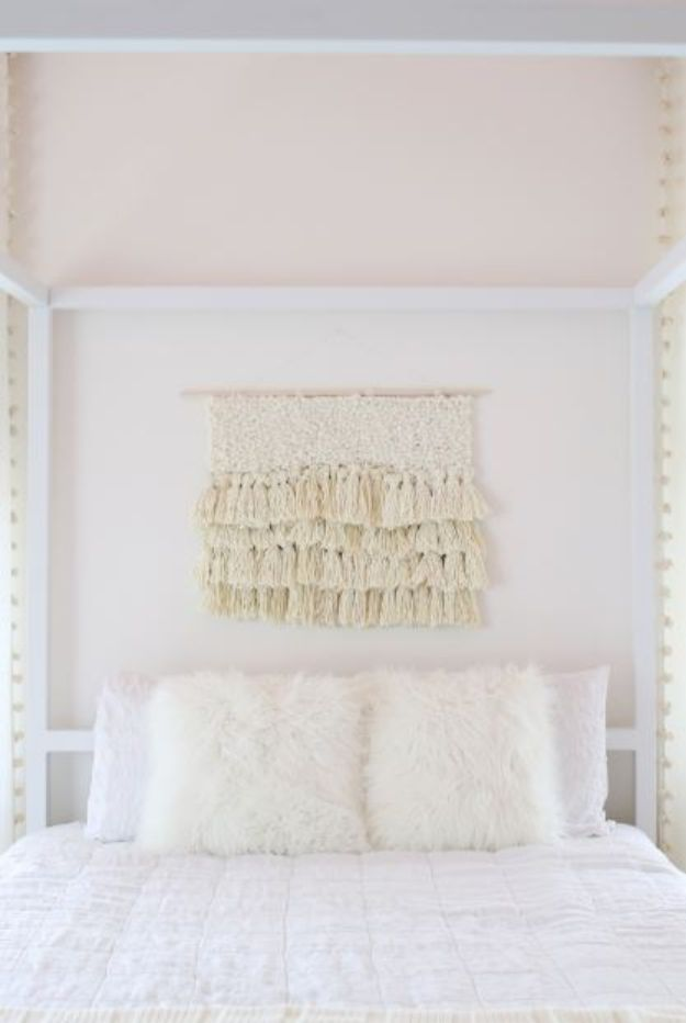 DIY Bedroom Decor Ideas - DIY Fiber Art - Easy Room Decor Projects for The Home - Cheap Farmhouse Crafts, Wall Art Idea, Bed and Bedding, Furniture