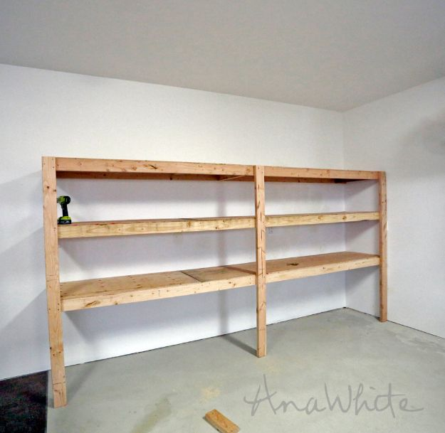 DIY Garage Organization Ideas - DIY Garage Shelving - Cheap Ways to Organize Garages on A Budget - Ideas for Storage, Storing Tools, Small Spaces, DYI Shelves, Organizing Hacks