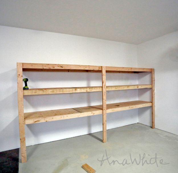 DIY Garage Organization Ideas - DIY Garage Shelving - Cheap Ways to Organize Garages on A Budget - Ideas for Storage, Storing Tools, Small Spaces, DYI Shelves, Organizing Hacks