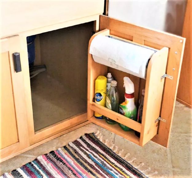DIY Kitchen Cabinets - DIY Kitchen Cabinet Door Organizer - Makeover Ideas for Kitchen Cabinet - Build and Design Kitchen Cabinet Projects on A Budget - Cheap Reface Idea and Tutorial
