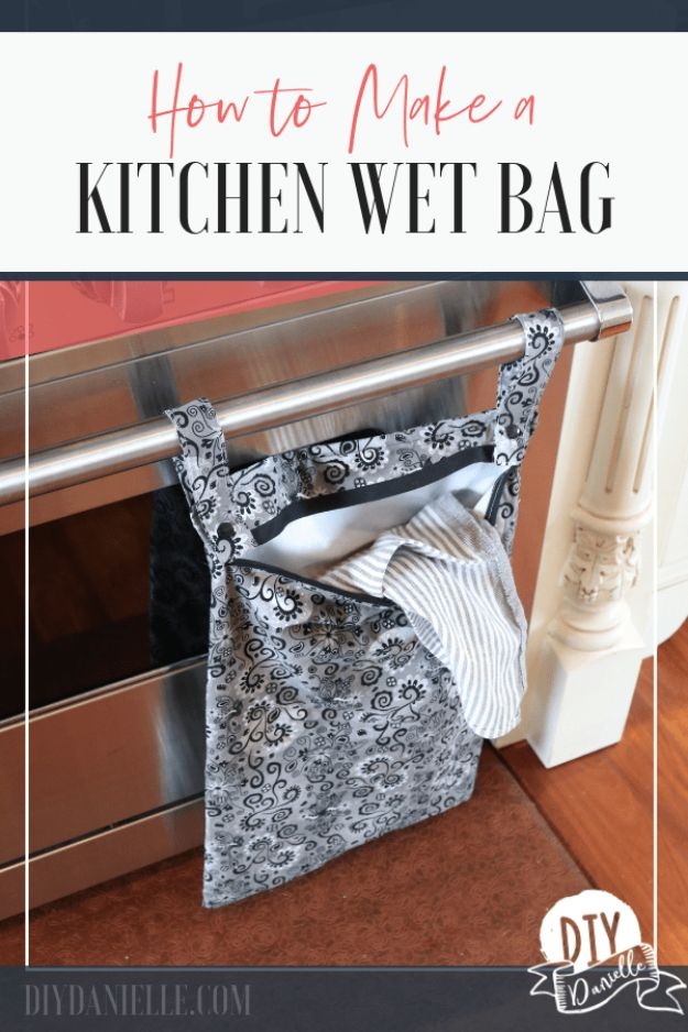 Sewing Projects to Make and Sell - DIY Kitchen Wet Bag - Easy Things to Sew and Sell on Etsy and Online Shops - DIY Sewing Crafts With Free Pattern and Tutorial