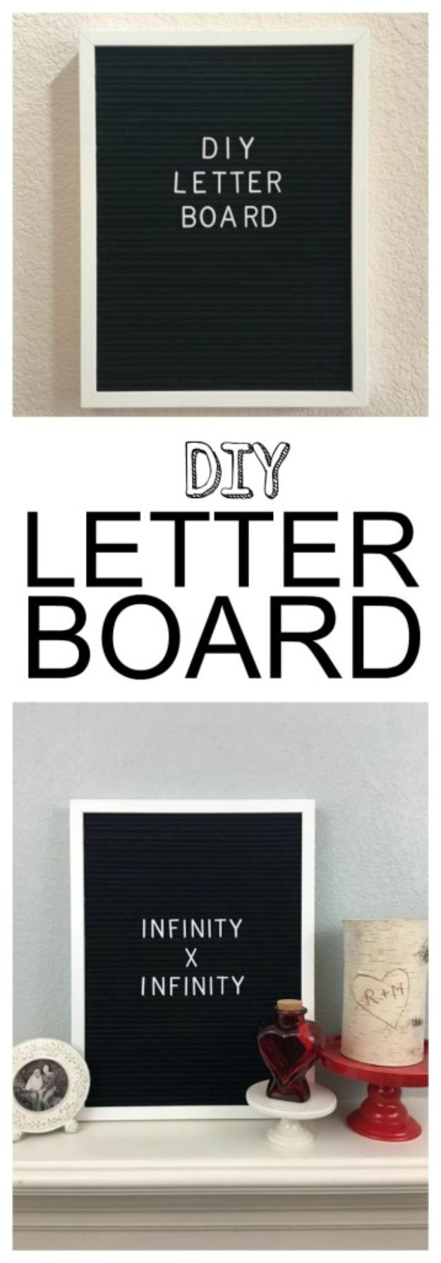 DIY Bedroom Decor Ideas - DIY Letter Board - Easy Room Decor Projects for The Home - Cheap Farmhouse Crafts, Wall Art Idea, Bed and Bedding, Furniture