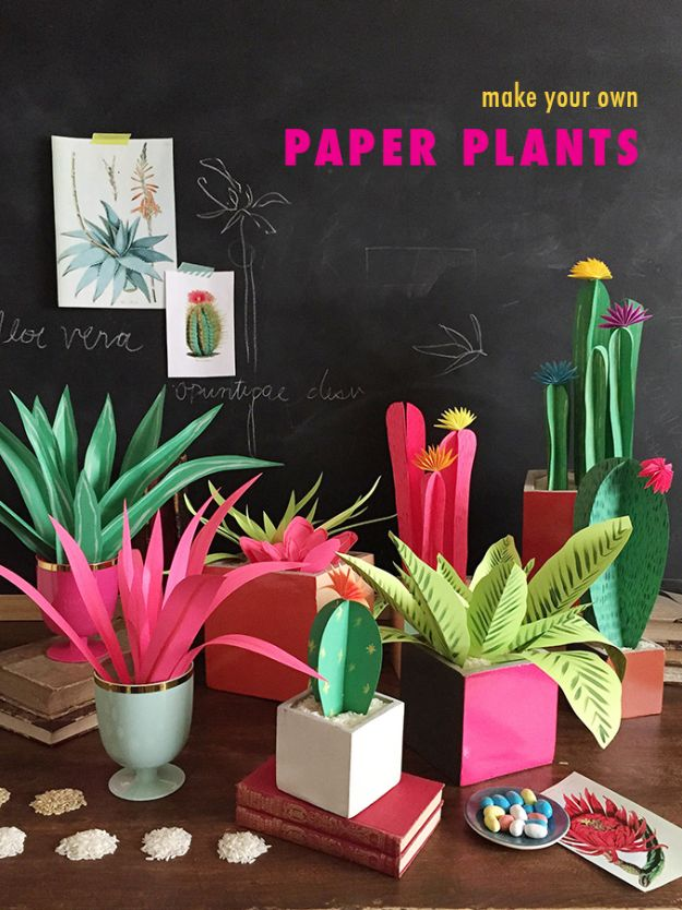 Fun DIY Ideas for Adults - DIY Paper Plants - Easy Crafts and Gift Ideas , Cool Projects That Are Fun to Make - Crafts Idea for Men and Women