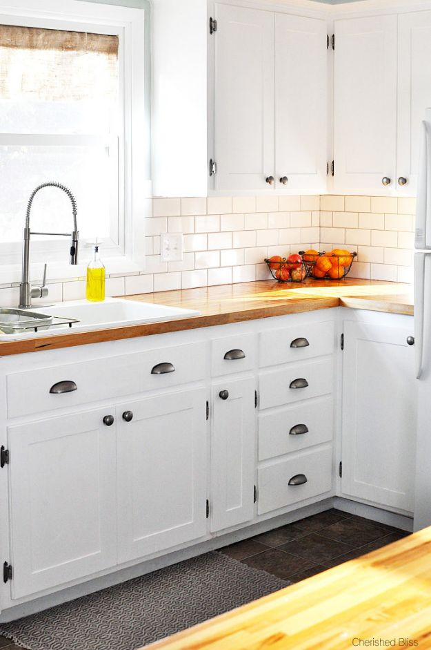DIY Kitchen Cabinets - DIY Shaker Style Cabinets - Makeover Ideas for Kitchen Cabinet - Build and Design Kitchen Cabinet Projects on A Budget - Cheap Reface Idea and Tutorial