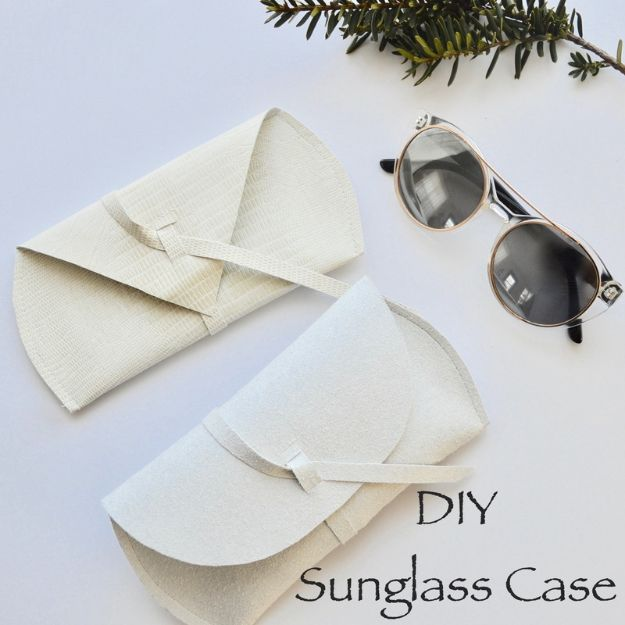 Sewing Projects to Make and Sell - DIY Sunglass Case - Easy Things to Sew and Sell on Etsy and Online Shops - DIY Sewing Crafts With Free Pattern and Tutorial
