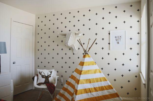 DIY Nursery Decor Ideas for Boys - DIY Washi Tape Wall Decals - Cute Blue Room Decorations for Baby Boy- Crib Bedding, Changing Table, Organization Idea, Furniture and Easy Wall Art