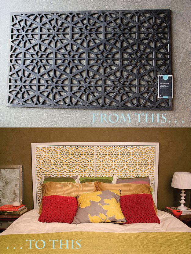 DIY Bedroom Decor Ideas - DIY West Elm Morocco Headboard - Easy Room Decor Projects for The Home - Cheap Farmhouse Crafts, Wall Art Idea, Bed and Bedding, Furniture