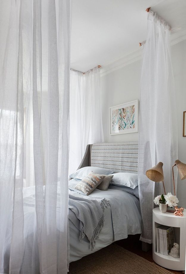 DIY Bedroom Decor Ideas - Dreamy Canopy Bed - Easy Room Decor Projects for The Home - Cheap Farmhouse Crafts, Wall Art Idea, Bed and Bedding, Furniture
