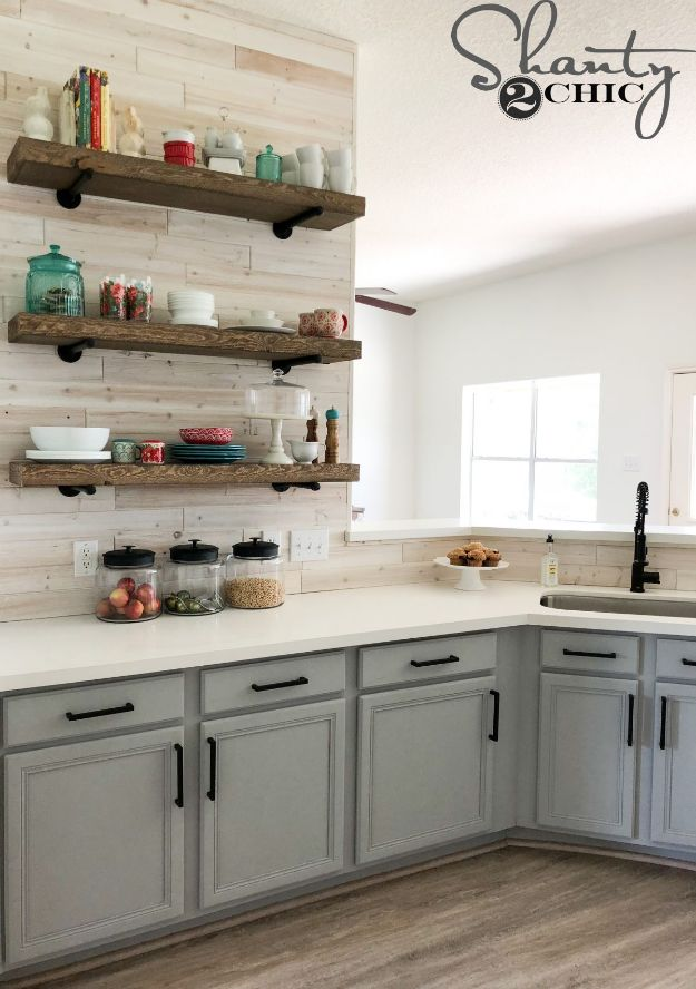 DIY Kitchen Cabinets - Easily Paint Kitchen Cabinets - Makeover Ideas for Kitchen Cabinet - Build and Design Kitchen Cabinet Projects on A Budget - Cheap Reface Idea and Tutorial