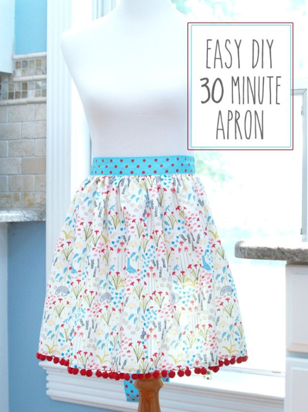 Sewing Projects to Make and Sell - Easy DIY 30 Minute Apron - Easy Things to Sew and Sell on Etsy and Online Shops - DIY Sewing Crafts With Free Pattern and Tutorial