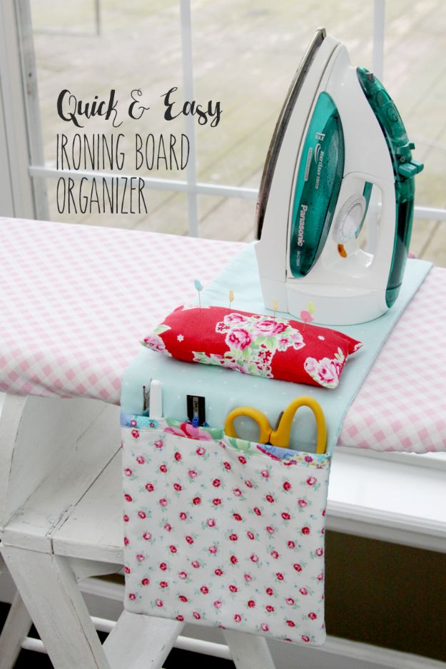 Sewing Projects to Make and Sell - Easy DIY Ironing Board Organizer - Easy Things to Sew and Sell on Etsy and Online Shops - DIY Sewing Crafts With Free Pattern and Tutorial