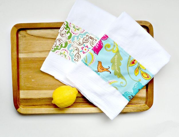 Sewing Projects to Make and Sell - Easy DIY Tea Towels - Easy Things to Sew and Sell on Etsy and Online Shops - DIY Sewing Crafts With Free Pattern and Tutorial