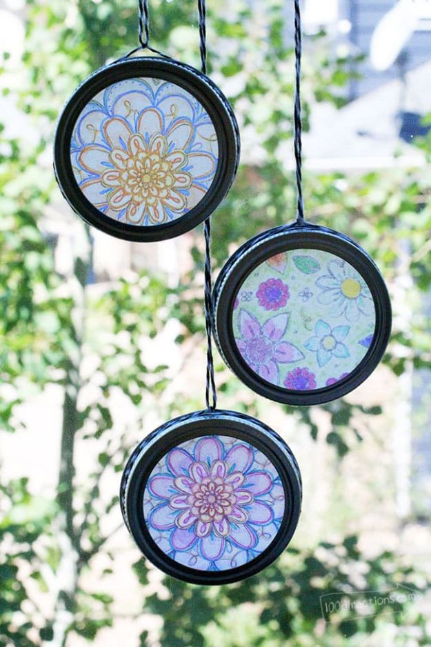Fun DIY Ideas for Adults - Easy Sun Catchers with Coloring Pages - Easy Crafts and Gift Ideas , Cool Projects That Are Fun to Make - Crafts Idea for Men and Women
