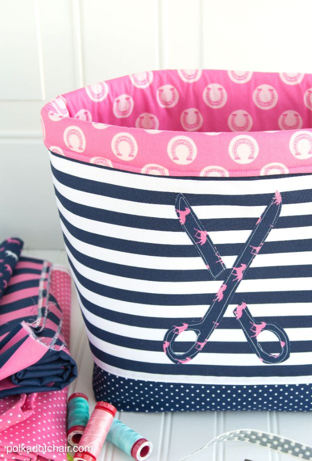 Sewing Projects to Make and Sell - Fabric Basket - Easy Things to Sew and Sell on Etsy and Online Shops - DIY Sewing Crafts With Free Pattern and Tutorial