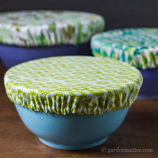 Sewing Projects for Fat Quarters - Fabric Bowl Covers - Easy Ideas to Sew With a Fat Quarter - Quick DIY Gifts, Quilt, Placemats, DIY Baby Gift, Project for The Home, Kids, Christmas