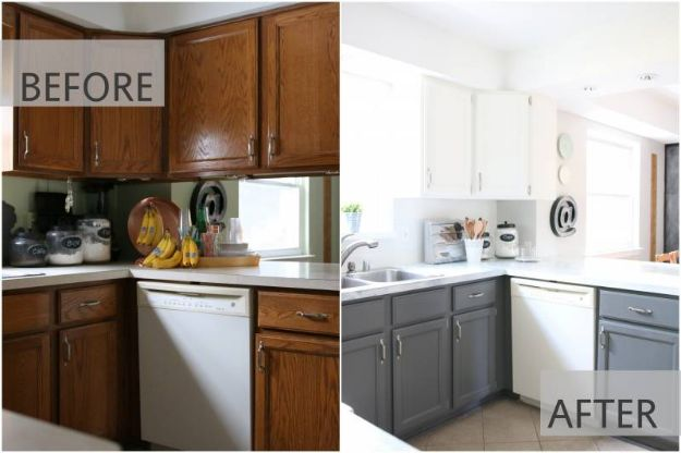 DIY Kitchen Cabinets - Fixer Upper Inspired Kitchen - Makeover Ideas for Kitchen Cabinet - Build and Design Kitchen Cabinet Projects on A Budget - Cheap Reface Idea and Tutorial