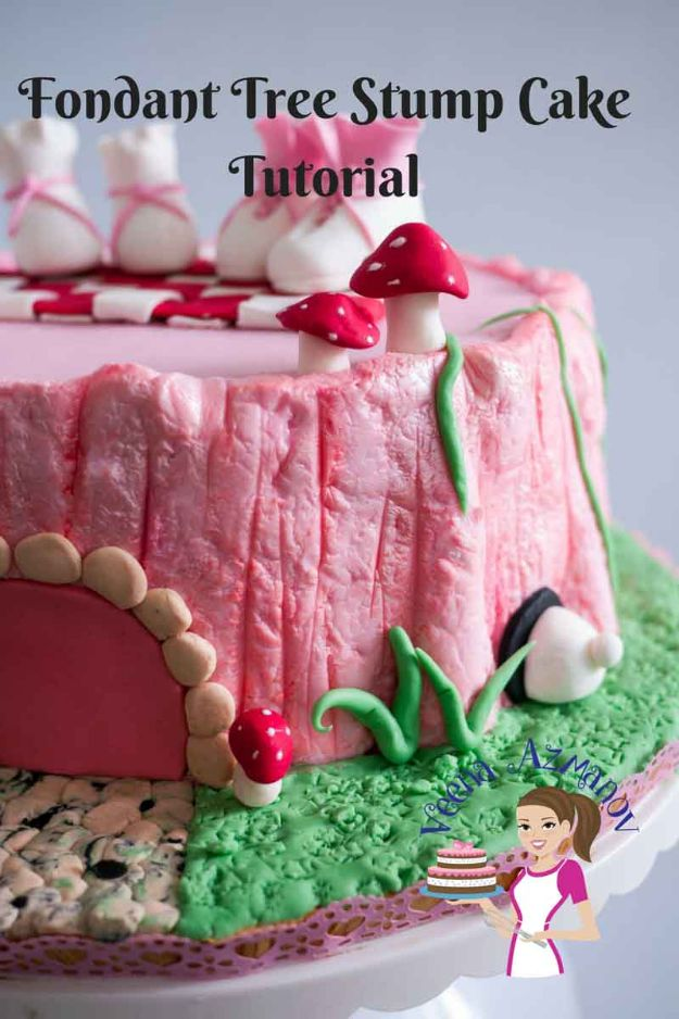 Baby Shower Cakes DIY - Fondant Tree Stump Cake - Easy Cake Recipes and Cupcakes to Make For Babies Showers - Ideas for Boys and Girls, Neutral, for Twins