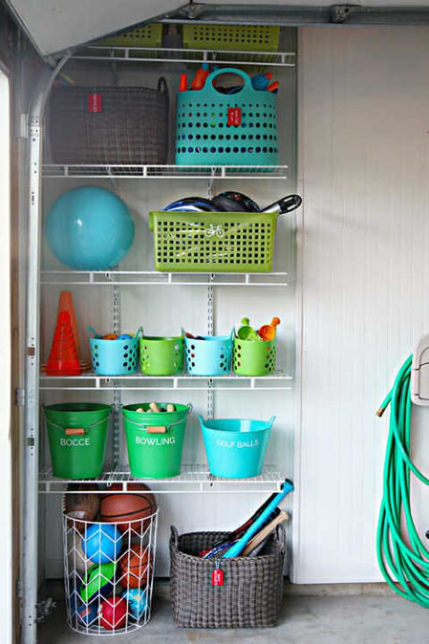 DIY Garage Organization Ideas - Garage Toy Organization - Ideas for Storage, Storing Tools, Small Spaces, DYI Shelves, Organizing Hacks