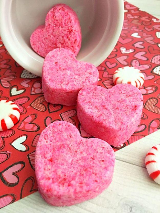 DIY Bath Bombs - Heart-Shaped Bath Bombs - Easy DIY Bath Bomb Recipe Ideas - How to Make Bath Bombs at Home - Best Lush Copycats, Lavender, Glitter Homemade Bath Fizzies #bathbombs #diyideas