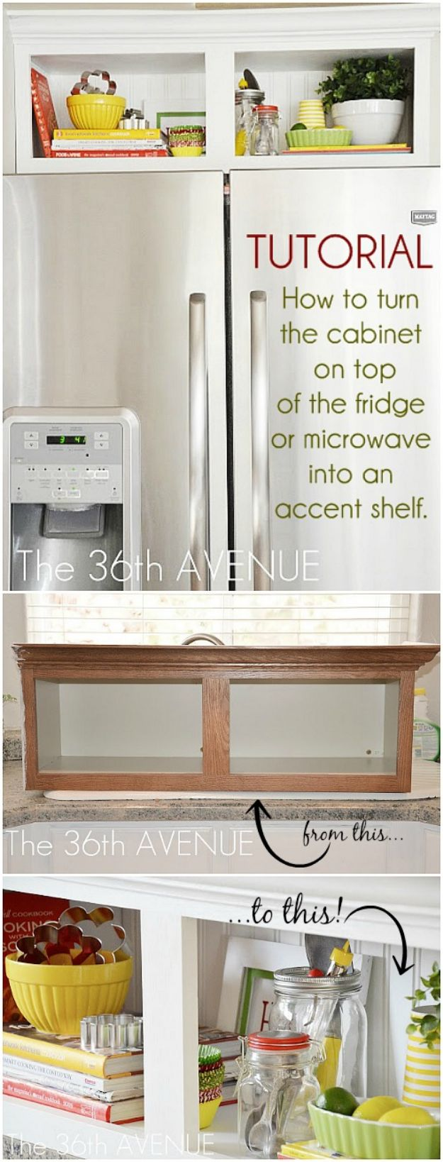 DIY Kitchen Cabinets - Kitchen Cabinet Accent - Makeover Ideas for Kitchen Cabinet - Build and Design Kitchen Cabinet Projects on A Budget - Cheap Reface Idea and Tutorial