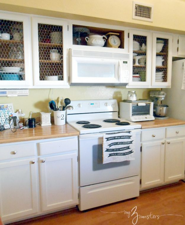 DIY Kitchen Cabinets - Kitchen Cabinet Facelift - Makeover Ideas for Kitchen Cabinet - Build and Design Kitchen Cabinet Projects on A Budget - Cheap Reface Idea and Tutorial