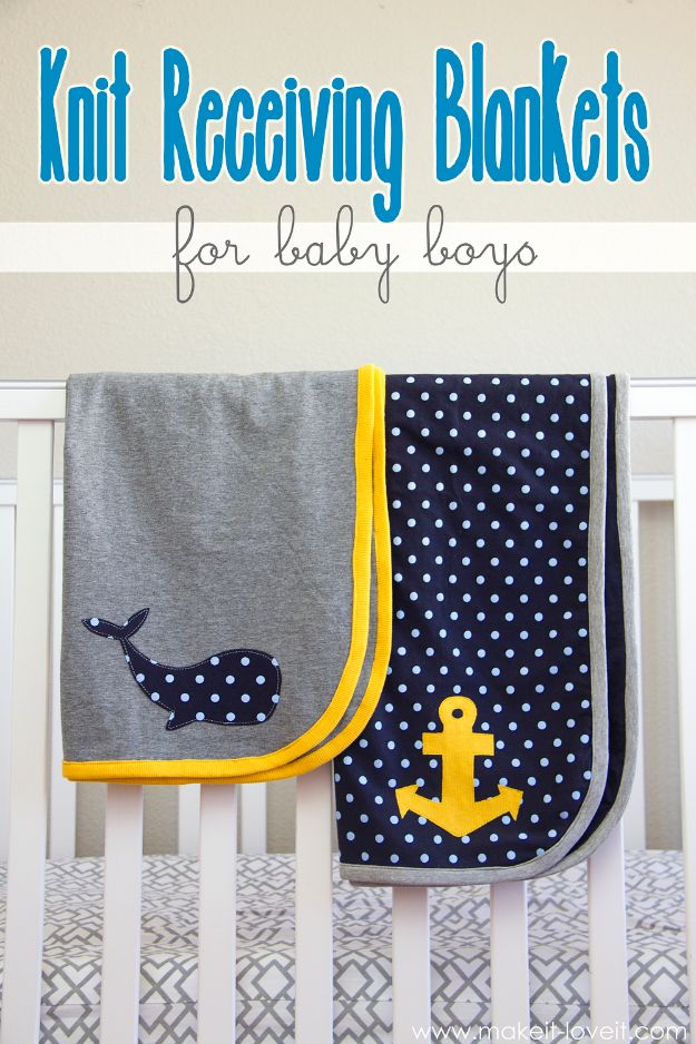 Sewing Projects to Make and Sell - Knit Receiving Blankets - Easy Things to Sew and Sell on Etsy and Online Shops - DIY Sewing Crafts With Free Pattern and Tutorial