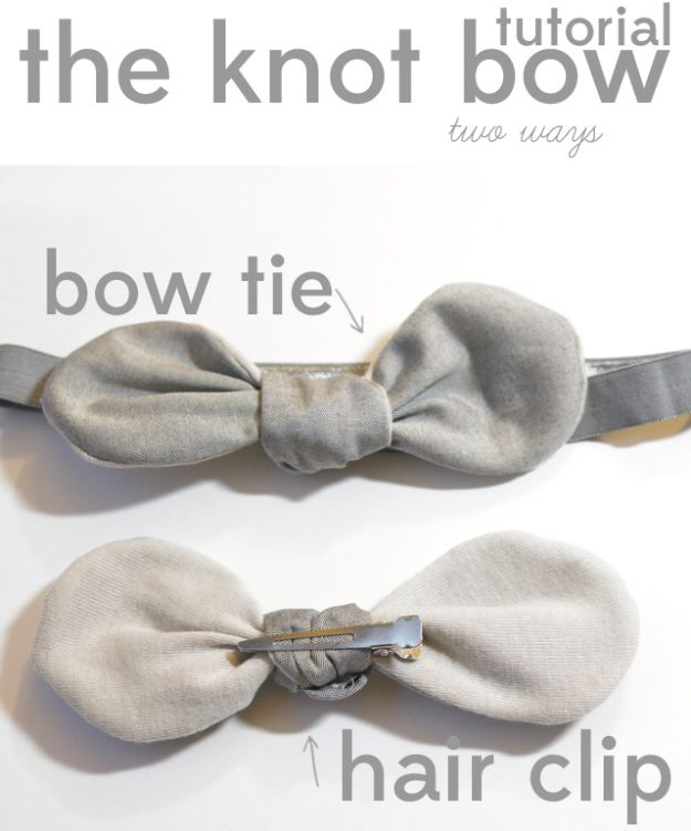Sewing Projects for Fat Quarters - Knotted Bow Tie - Easy Ideas to Sew With a Fat Quarter - Quick DIY Gifts, Quilt, Placemats, DIY Baby Gift, Project for The Home, Kids, Christmas