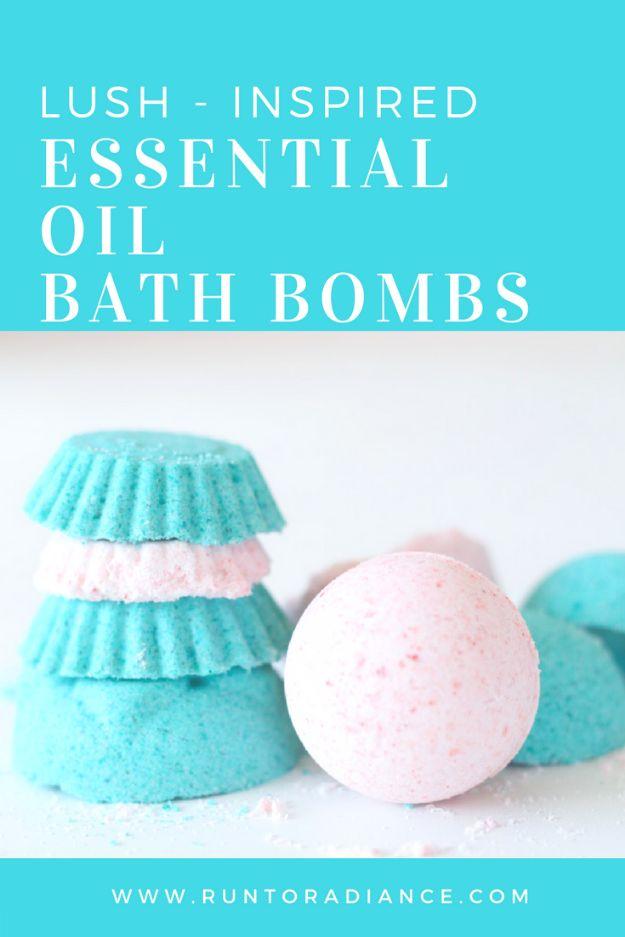 DIY Bath Bombs - Lush Inspired Essential Oil Bath Bombs - Easy DIY Bath Bomb Recipe Ideas - How to Make Bath Bombs at Home - Best Lush Copycats, Lavender, Glitter Homemade Bath Fizzies #bathbombs #diyideas