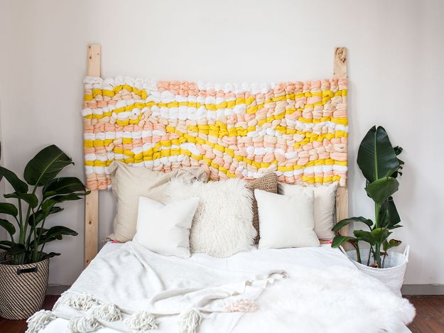 DIY Bedroom Decor Ideas - Make a Woven Headboard - Easy Room Decor Projects for The Home - Cheap Farmhouse Crafts, Wall Art Idea, Bed and Bedding, Furniture