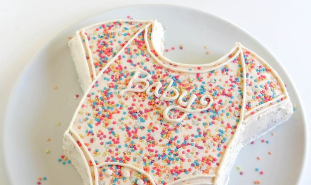 Baby Shower Cakes DIY - Make the Easiest (and Cutest!) Baby Shower Cake Ever - Easy Cake Recipes and Cupcakes to Make For Babies Showers - Ideas for Boys and Girls, Neutral, for Twins