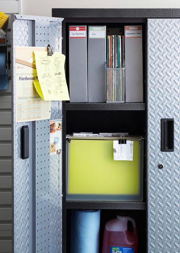 DIY Garage Organization Ideas - Metal Locker Storage - Ideas for Storage, Storing Tools, Small Spaces, DYI Shelves, Organizing Hacks