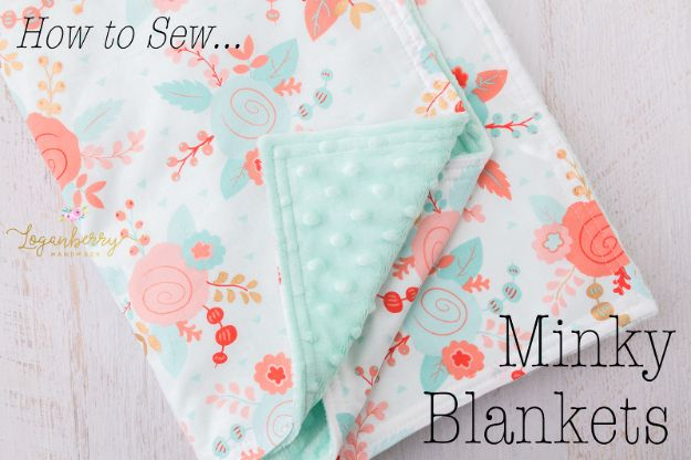 Sewing Projects to Make and Sell - Minky Baby Blanket - Easy Things to Sew and Sell on Etsy and Online Shops - DIY Sewing Crafts With Free Pattern and Tutorial