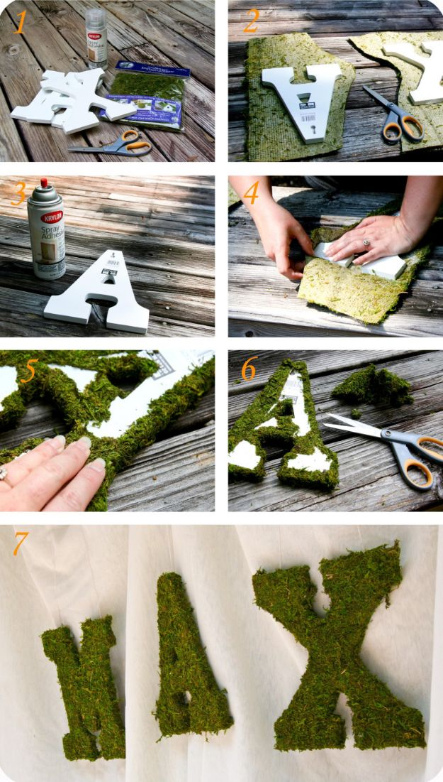 DIY Nursery Decor Ideas for Boys - Moss Letters - Cute Blue Room Decorations for Baby Boy- Crib Bedding, Changing Table, Organization Idea, Furniture and Easy Wall Art