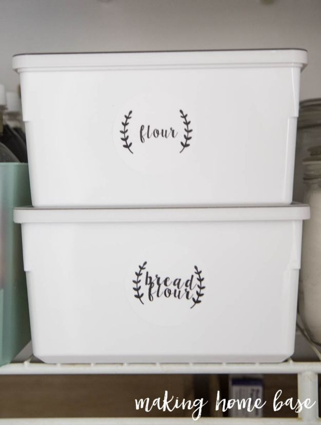 DIY Pantry Organizing Ideas - Organize Pantry With IKEA Food Storage Containers - Easy Organization for the Kitchen Pantry - Cheap Shelving and Storage Jars, Labels, Containers, Baskets to Organize Cans and Food, Spices